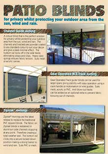 Patio Blinds Brochure - from Prestige Blinds