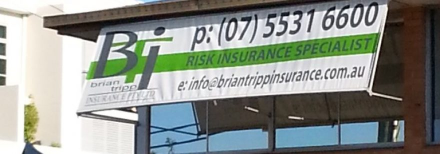Your business logo on your blinds or awnings!